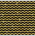 Pattern in zigzag Classic chevron gold glitter vector image vector image