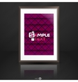 Photo Frame On The Wall vector image