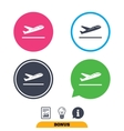 Plane takeoff icon Airplane transport symbol vector image vector image