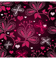 purple seamless valentine pattern vector image vector image
