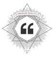 quote icon symbol vector image vector image