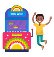 race video-game gambling machine winner vector image