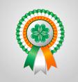Saint Patricks Day Irish rosette vector image vector image