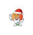 santa sweet nectarine character maskot cartoon vector image vector image