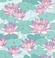 seamless pattern with lotus flowers vector image vector image