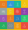 set icons with chemical laboratory equipment vector image vector image