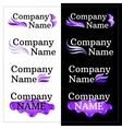 Set of Brand Identity Design Lilac Logo vector image vector image