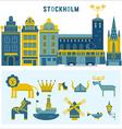 set of design elements in Stockholm vector image vector image
