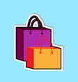 shopping bags icon isolated over blue background vector image