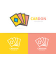 simple playing and game cards logo design template vector image vector image