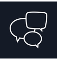 Speech Bubbles Isolated on Black Background vector image