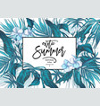 summer leaves vintage exotic greeting card vector image