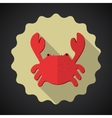 Summer Travel Sea Crab flat icon vector image vector image