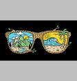 sunglasses nature vector image