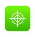 target crosshair icon digital green vector image vector image