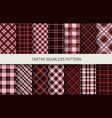 tartan seamless patterns in dark colors vector image vector image