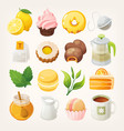 tea desserts and elements vector image vector image