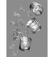 three glasses vector image vector image