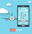 video streaming on mobile phone vector image
