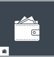 wallet related glyph icon vector image vector image