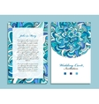 Wedding card template marine design vector image vector image
