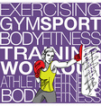 woman with boxing gloves at workout at gym vector image vector image
