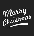 merry christmas text on black background vector image