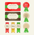 Set of promotion cards design with ribbons vector image