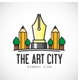 Art City Concept Symbol Icon or Logo Template vector image