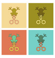 assembly flat icons kids toy frog vector image vector image
