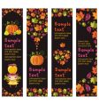 autumnal banners vector image vector image