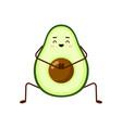avocado character design avocado yoga vector image vector image