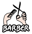 Barber sign vector image