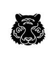 bengal tiger black glyph icon vector image