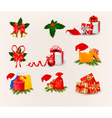 Big set of Christmas icons and objects vector image vector image