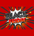 black friday sale tag comic text speech bubble vector image vector image