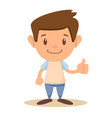 child thumbs up vector image vector image