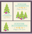 christmas and new year cards with decorations vector image vector image
