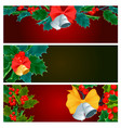 christmas decorative berry leaves holly branches vector image vector image