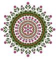 Circle mandala pattern vector image vector image