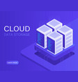 cloud data storage and server room vector image
