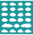 Clouds Collection of Flat Icons vector image vector image