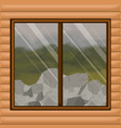 colorful background interior wooden cabin with vector image vector image