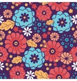 Colorful bouquet flowers seamless pattern vector image vector image
