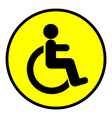 Disabled icon sign vector image vector image