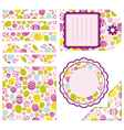 Easter set of design elements vector image
