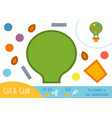 education paper game for children balloon vector image vector image