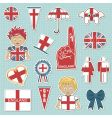 england supporter stickers vector image vector image