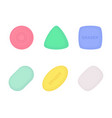 erasers various shapes and colors with texture vector image vector image