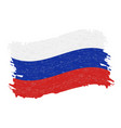 flag of russia grunge abstract brush stroke vector image vector image